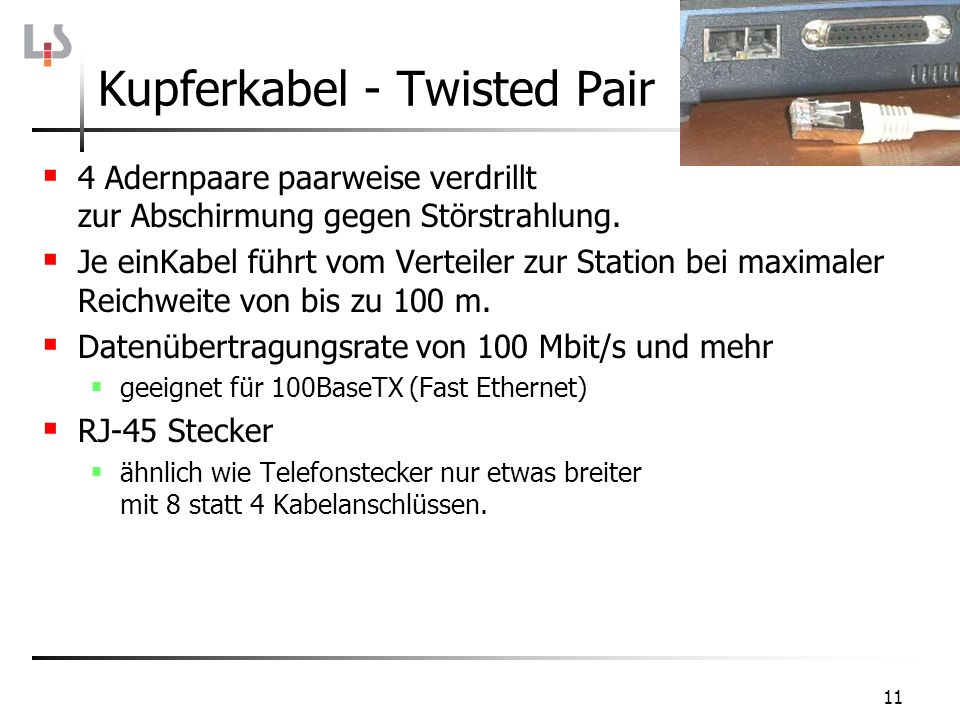 Kupferkabel - Twisted Pair