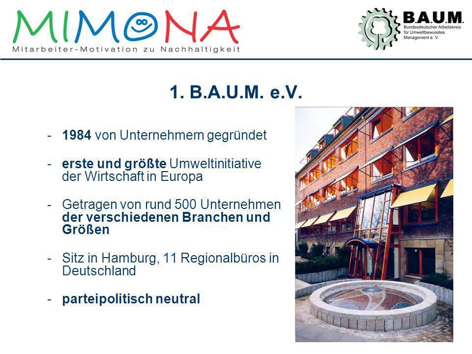 1. B.A.U.M. e.V. 1984 von Unternehmern gegründet