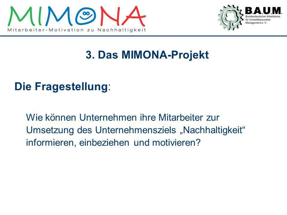 3. Das MIMONA-Projekt Die Fragestellung: