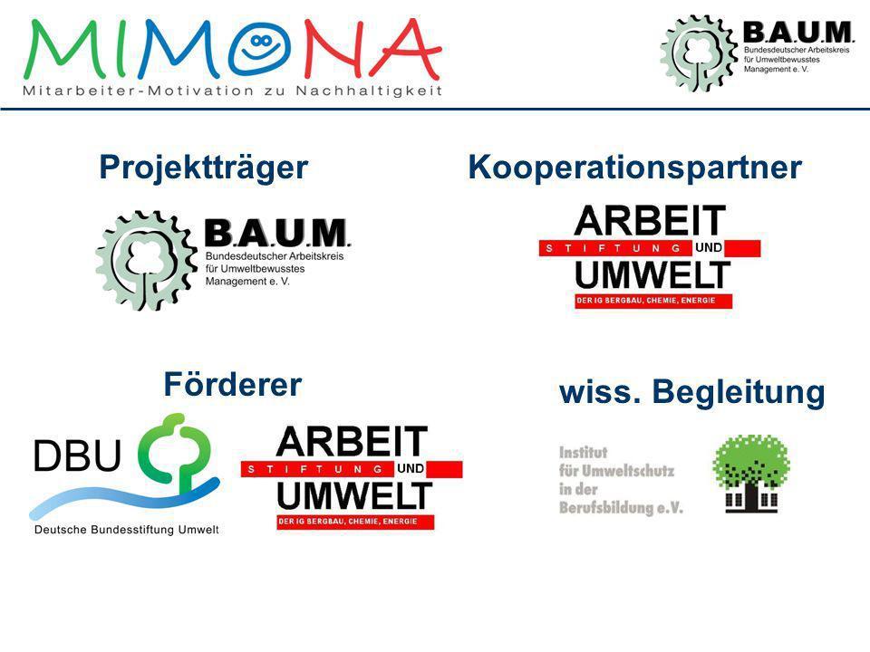 Projektträger Kooperationspartner Förderer wiss. Begleitung
