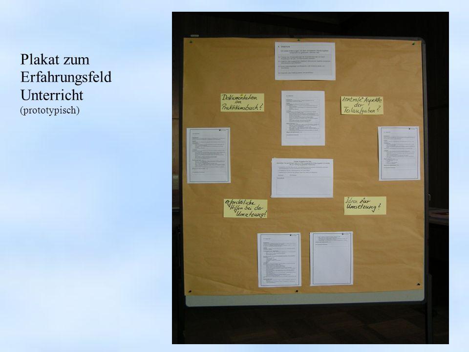 Plakat zum Erfahrungsfeld Unterricht (prototypisch)