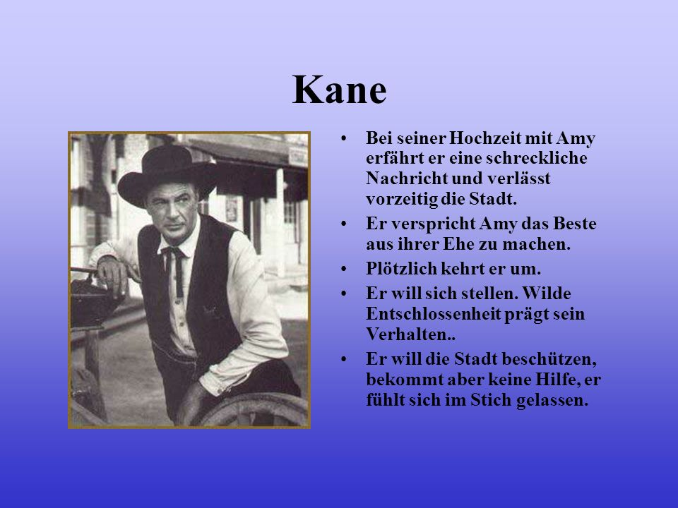 KaneBei seiner Hochzeit mit Amy erfährt er eine schreckliche Nachricht und verlässt vorzeitig die Stadt.