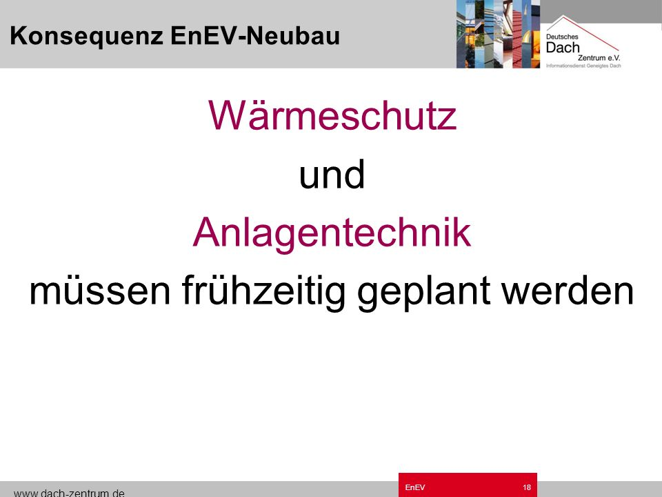 Konsequenz EnEV-Neubau