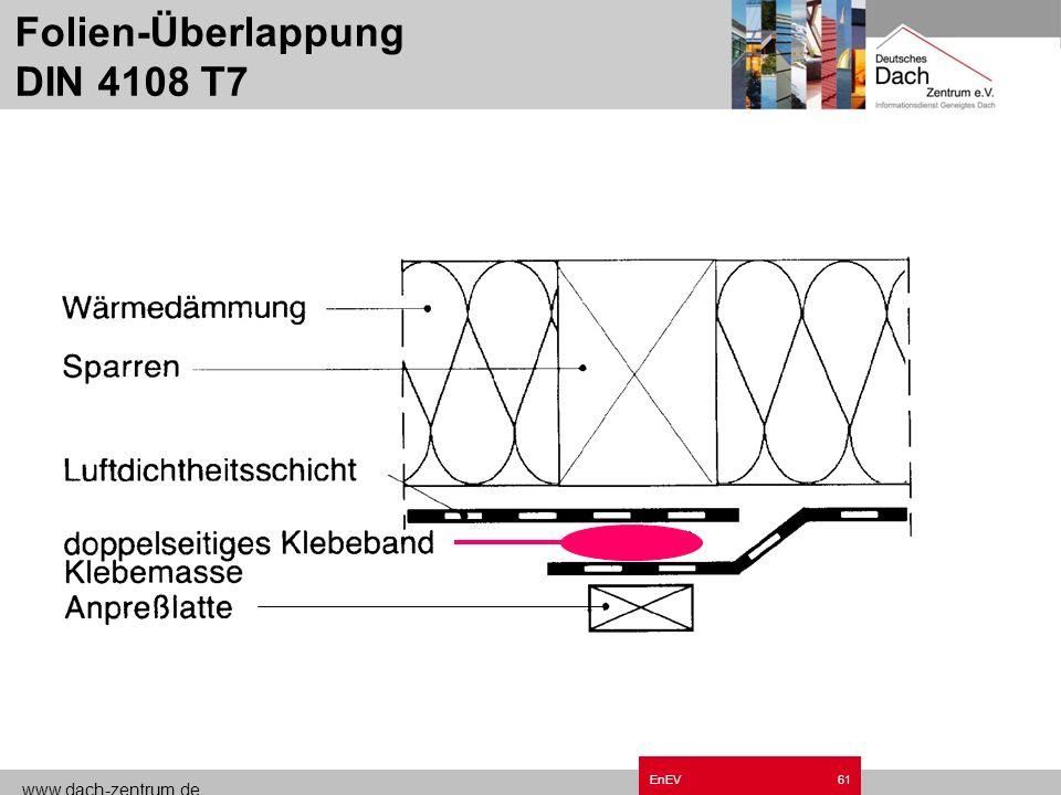 Folien-Überlappung DIN 4108 T7