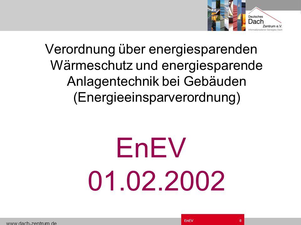 Grundzüge EnEV.ppt Verordnung über energiesparenden Wärmeschutz und energiesparende Anlagentechnik bei Gebäuden (Energieeinsparverordnung)