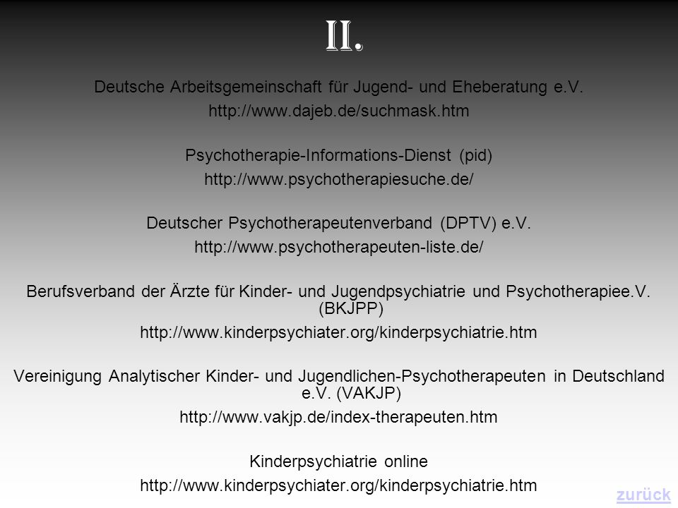 II. Deutsche Arbeitsgemeinschaft für Jugend- und Eheberatung e.V.