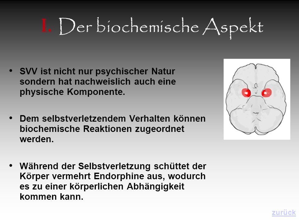 I. Der biochemische Aspekt