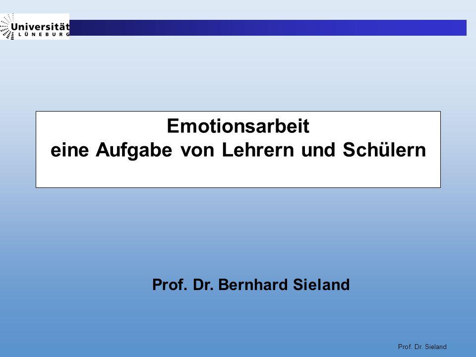 Emotionsarbeit eine Aufgabe von Lehrern und Schülern
