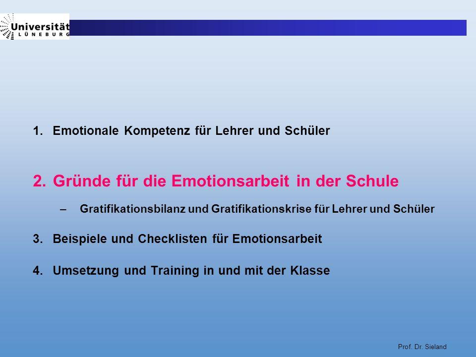 Gründe für die Emotionsarbeit in der Schule