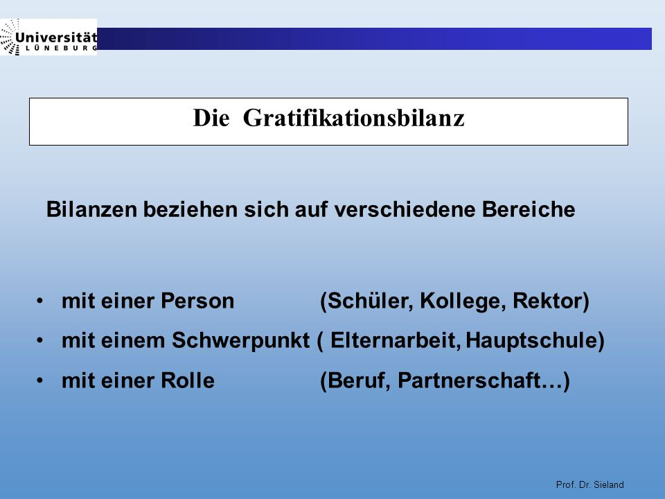Die Gratifikationsbilanz