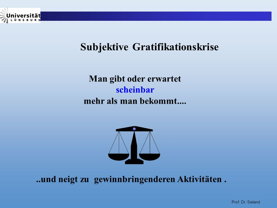 Subjektive Gratifikationskrise