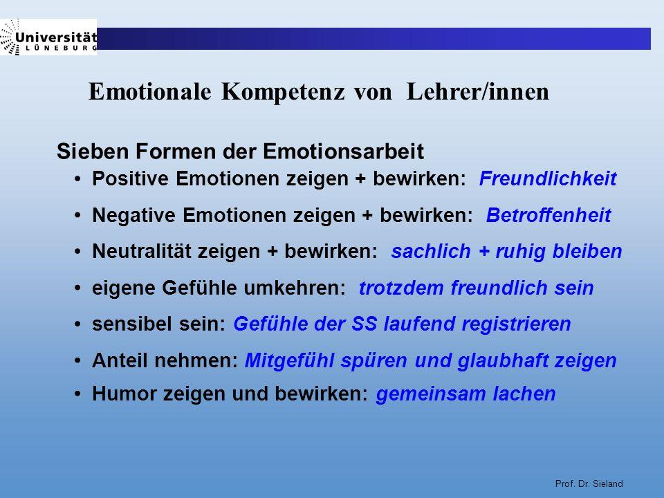 Emotionale Kompetenz von Lehrer/innen