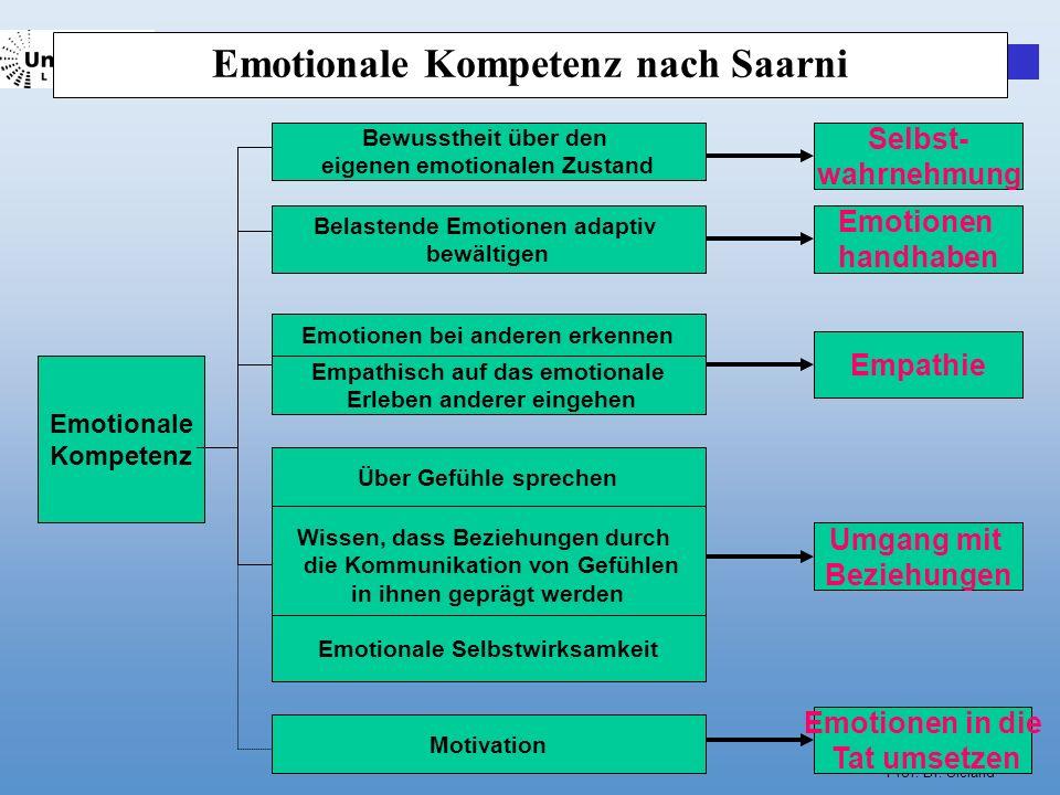 Emotionale Kompetenz nach Saarni