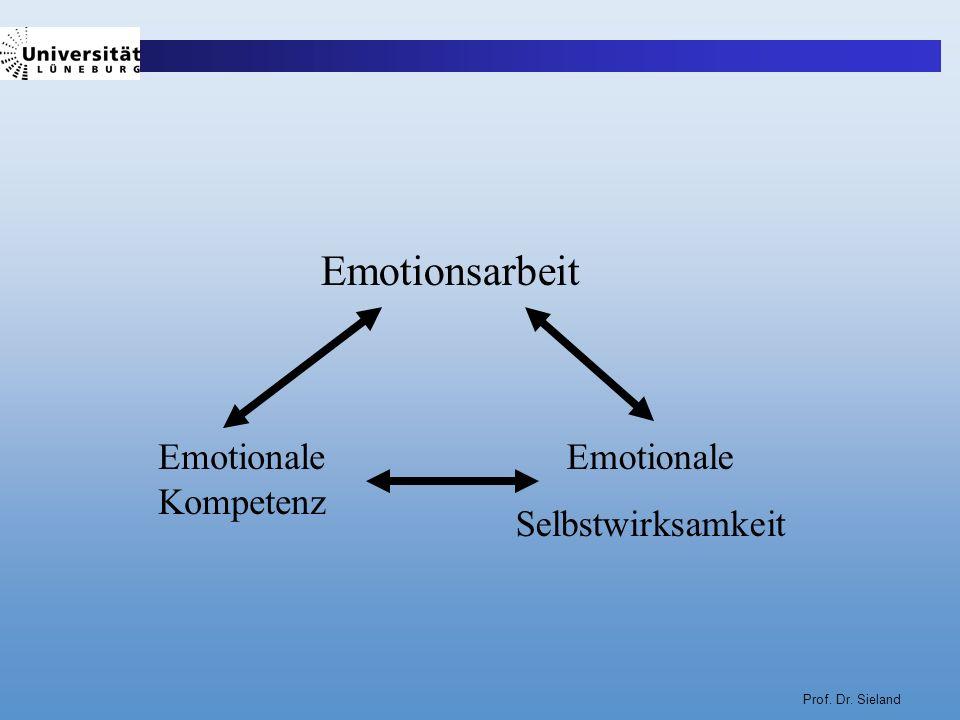 Emotionsarbeit Emotionale Kompetenz Emotionale Selbstwirksamkeit