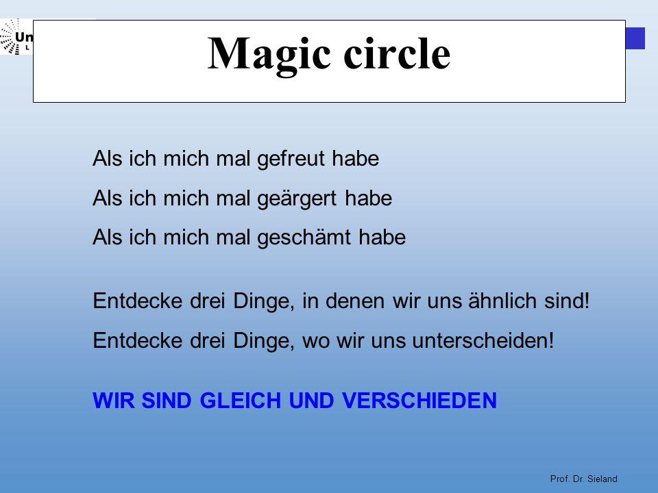Magic circle Als ich mich mal gefreut habe
