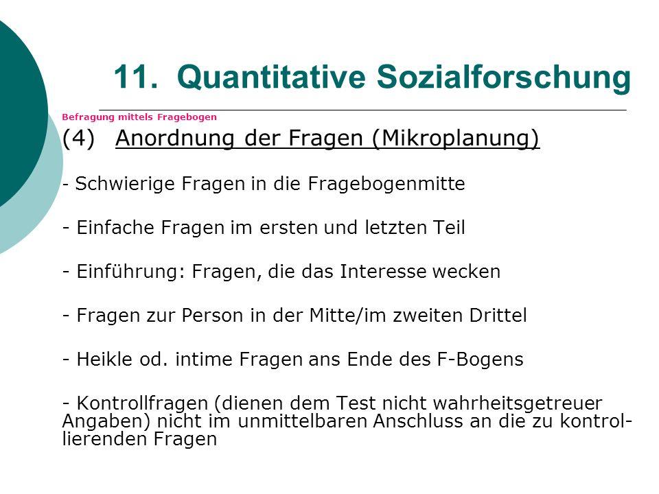 11. Quantitative Sozialforschung
