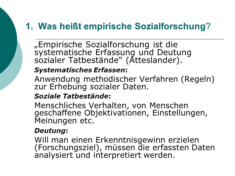 Was heißt empirische Sozialforschung