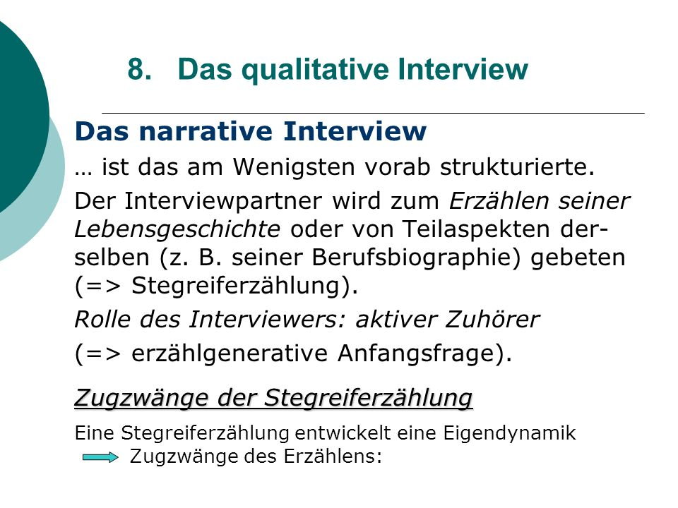 8. Das qualitative Interview