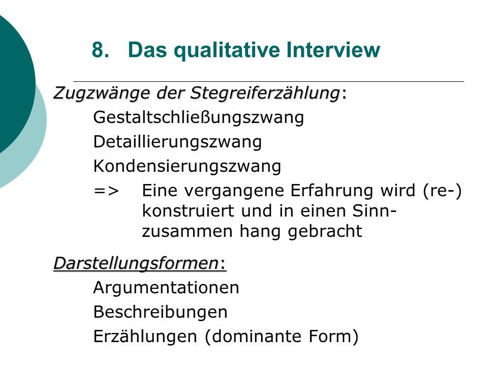 8. Das qualitative Interview
