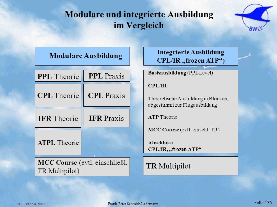 Modulare und integrierte Ausbildung im Vergleich