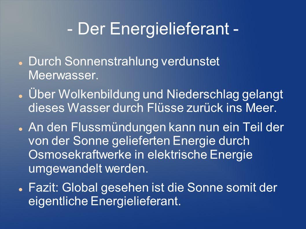 - Der Energielieferant -