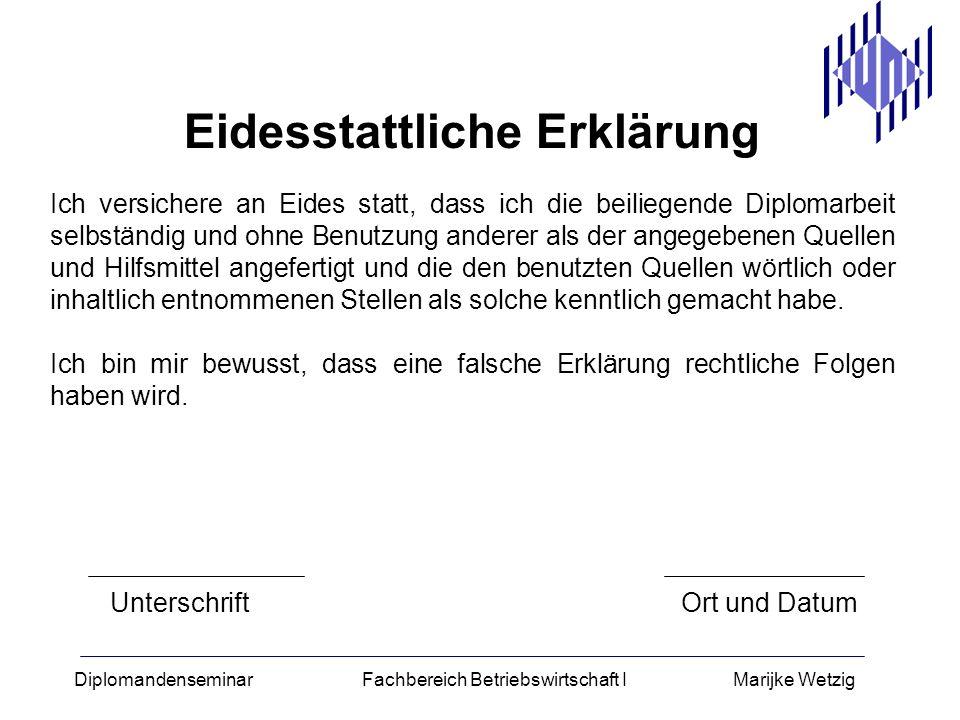 thesis eidesstattliche erkl rung - Eidesstattliche Versicherung Muster
