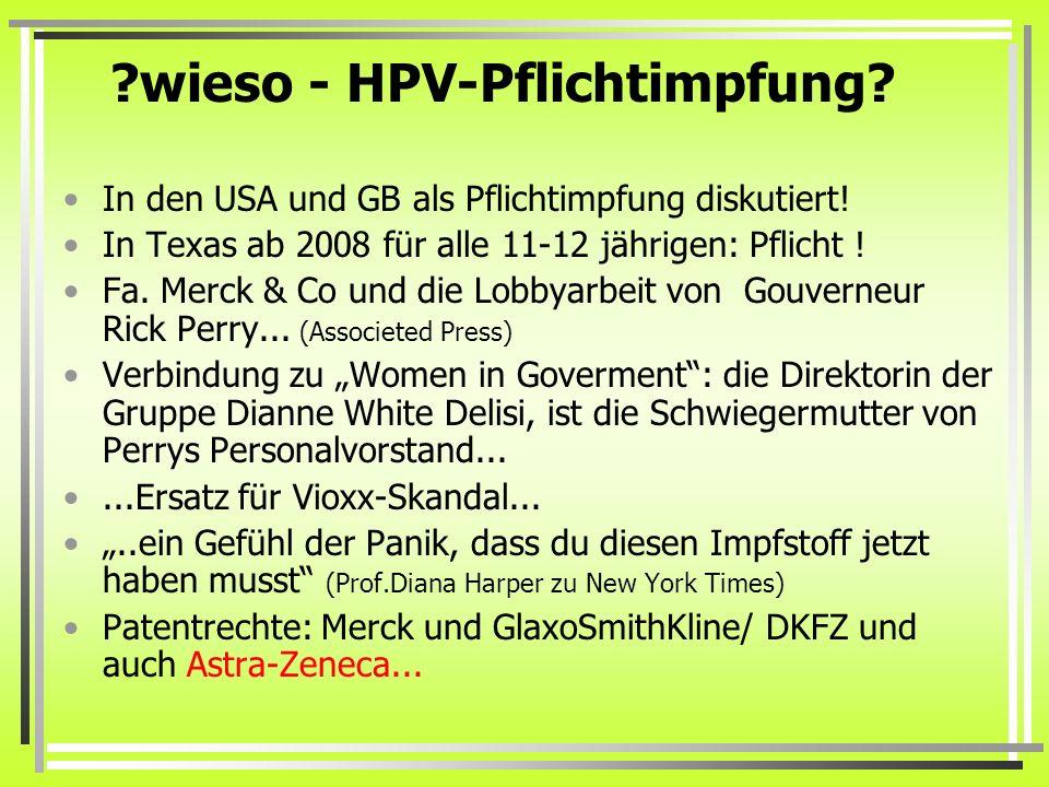 wieso - HPV-Pflichtimpfung