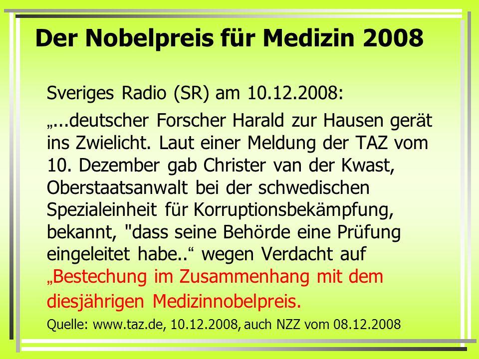 Der Nobelpreis für Medizin 2008