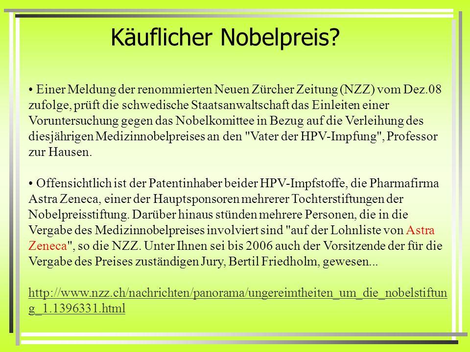 Käuflicher Nobelpreis