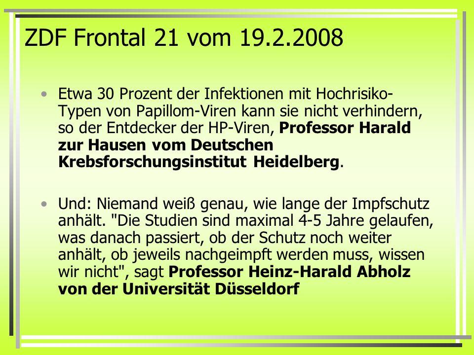 ZDF Frontal 21 vom 19.2.2008