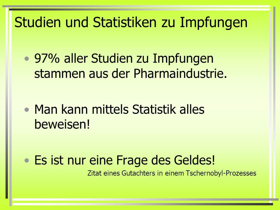 Studien und Statistiken zu Impfungen