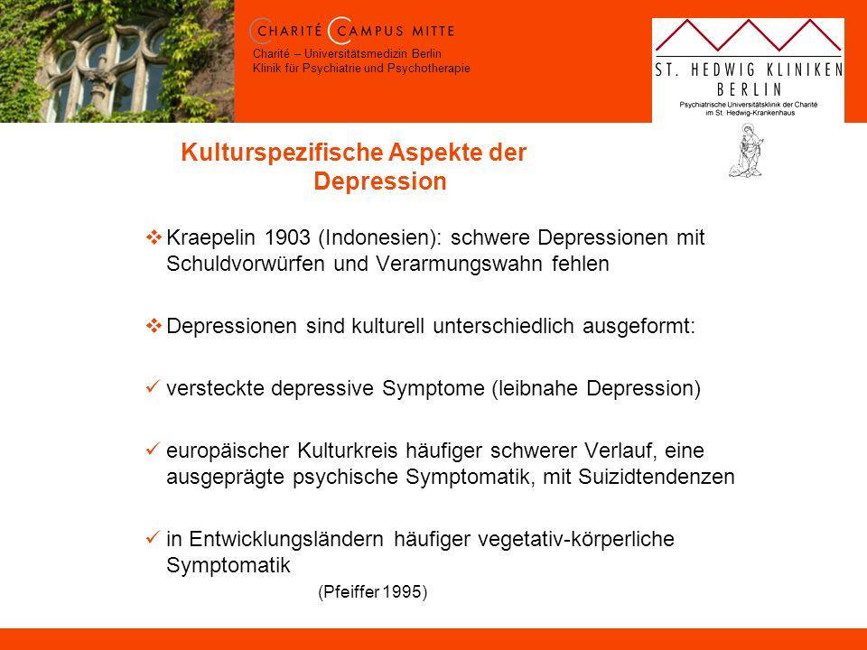 Kulturspezifische Aspekte der Depression
