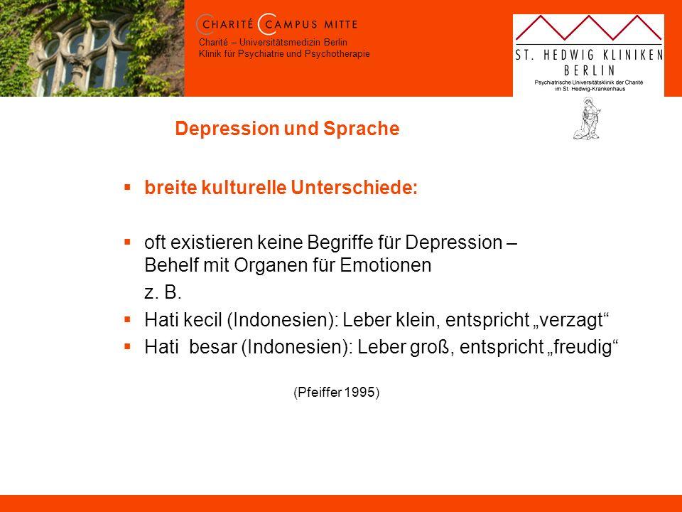 Depression und Sprache