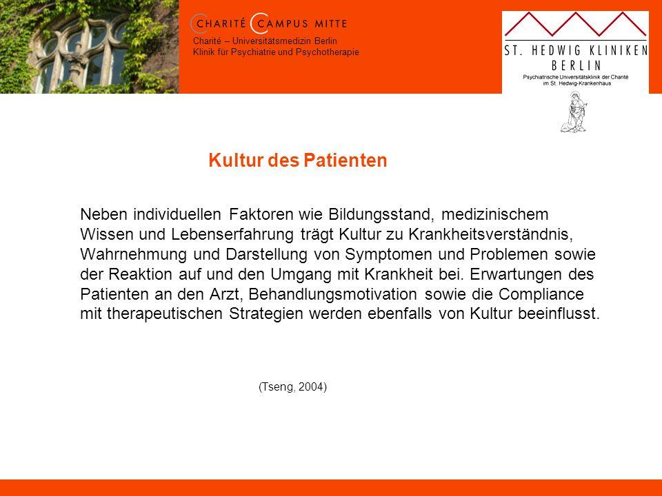 Kultur des Patienten