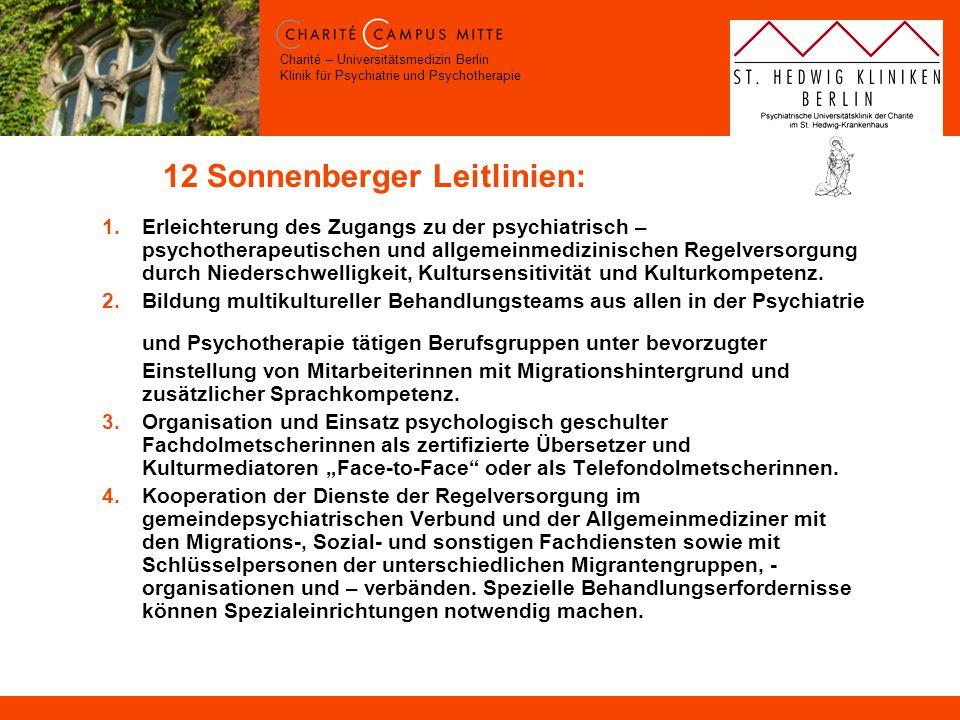 12 Sonnenberger Leitlinien:
