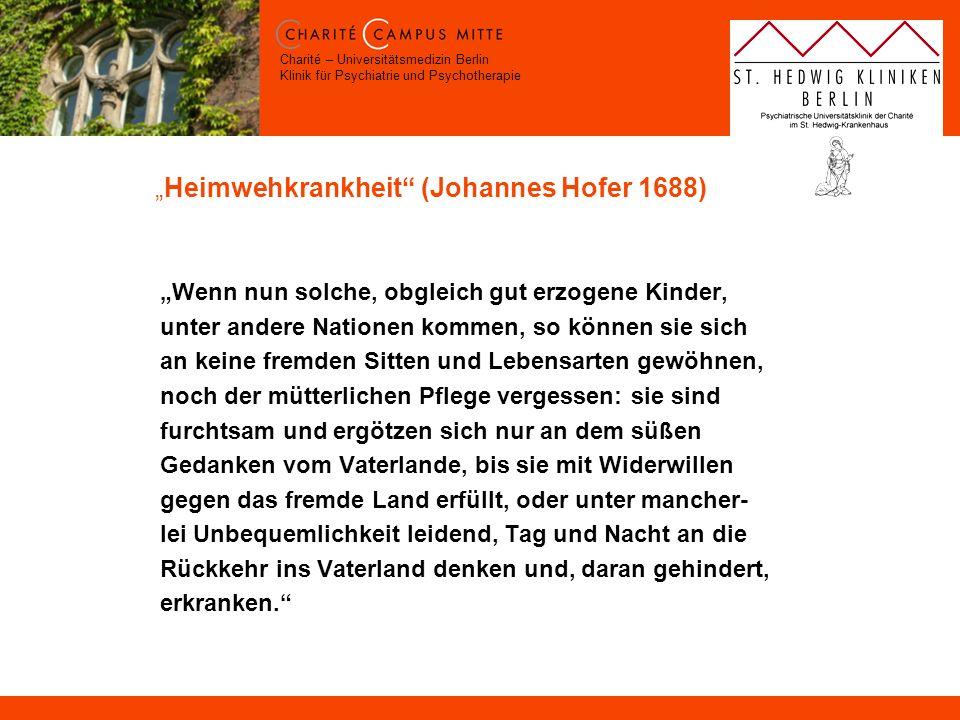 """Heimwehkrankheit (Johannes Hofer 1688)"