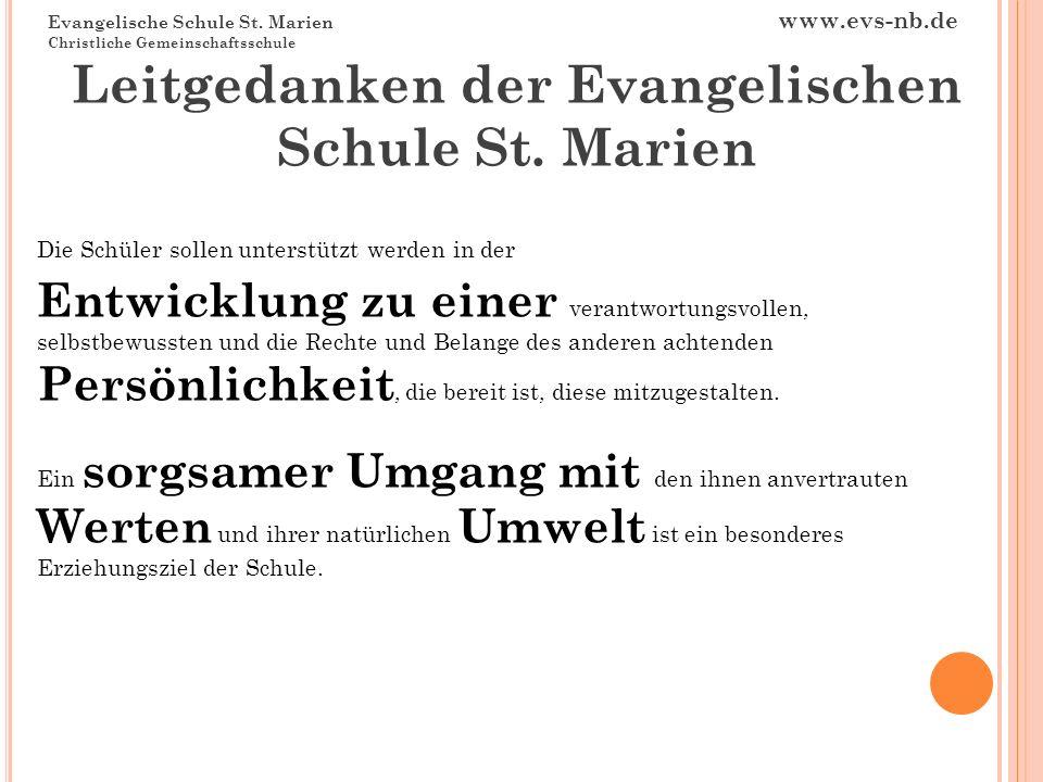 Leitgedanken der Evangelischen Schule St. Marien