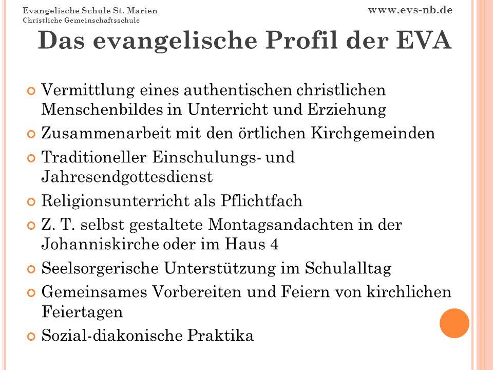 Das evangelische Profil der EVA