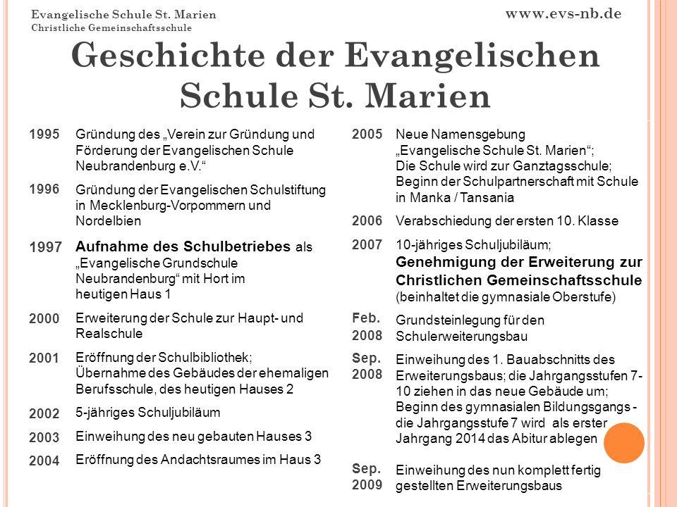 Geschichte der Evangelischen Schule St. Marien
