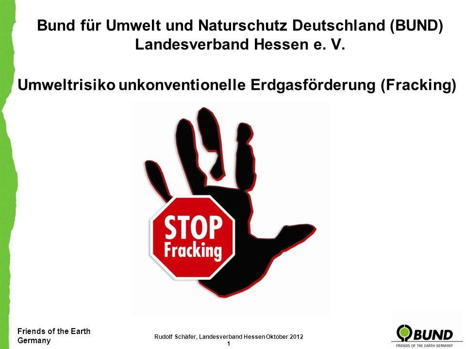 Umweltrisiko unkonventionelle Erdgasförderung (Fracking)