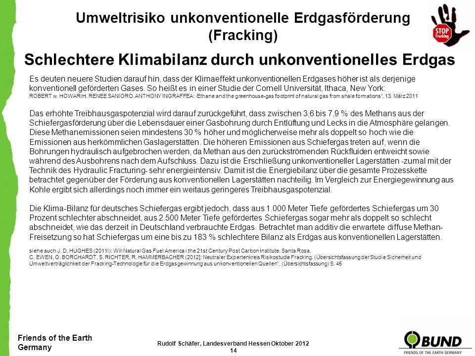 Schlechtere Klimabilanz durch unkonventionelles Erdgas
