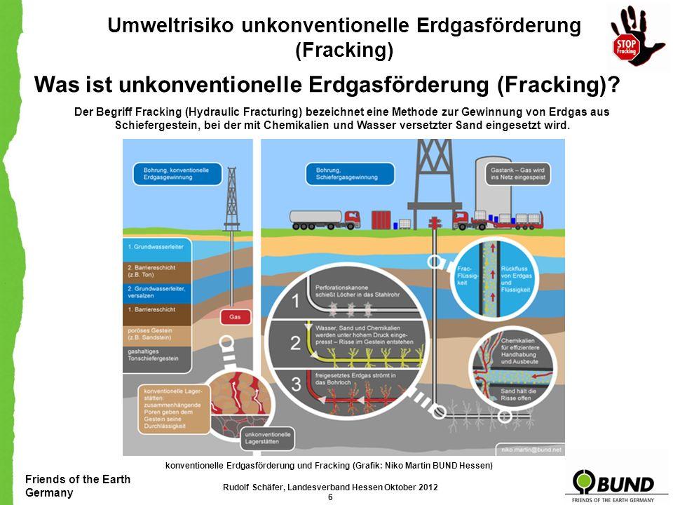 Was ist unkonventionelle Erdgasförderung (Fracking)
