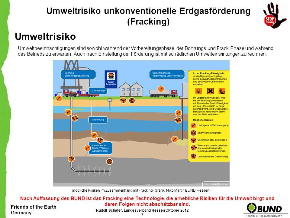Umweltrisiko Umweltrisiko unkonventionelle Erdgasförderung (Fracking)