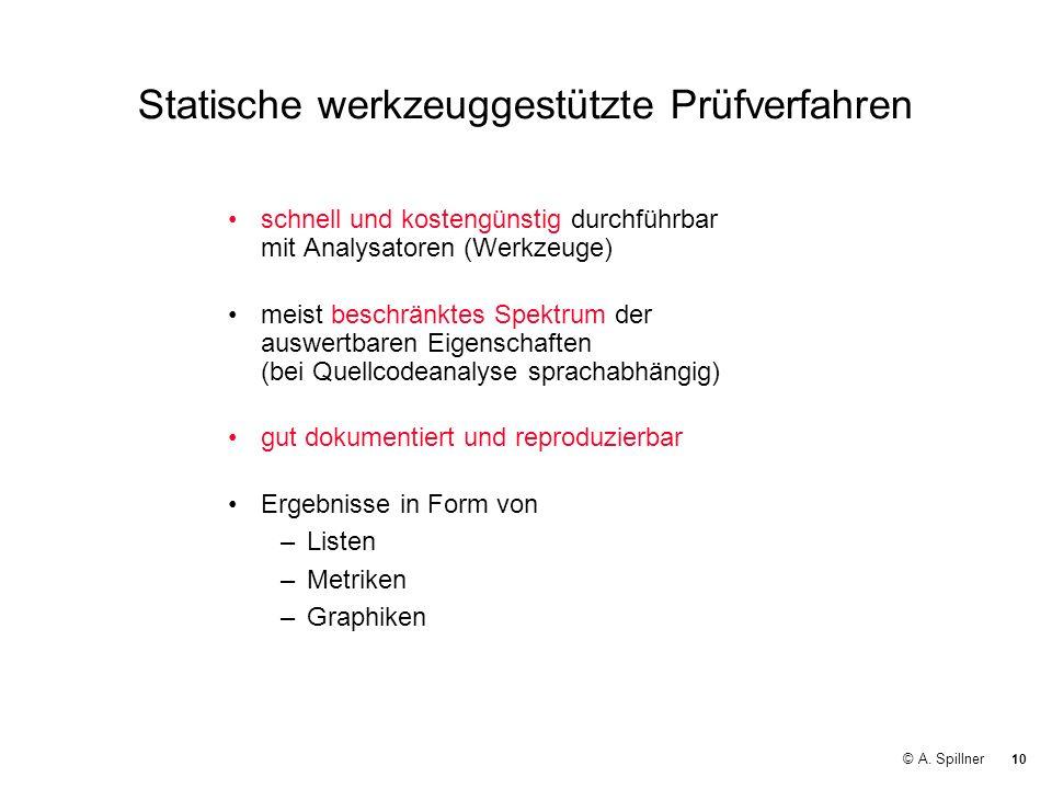 Statische werkzeuggestützte Prüfverfahren