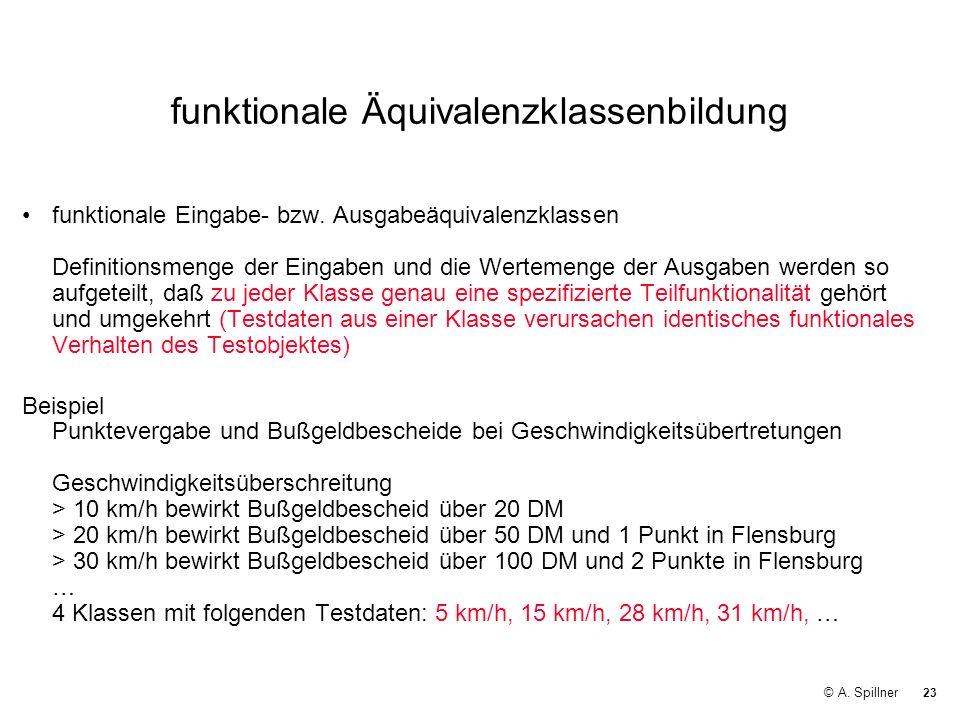 funktionale Äquivalenzklassenbildung