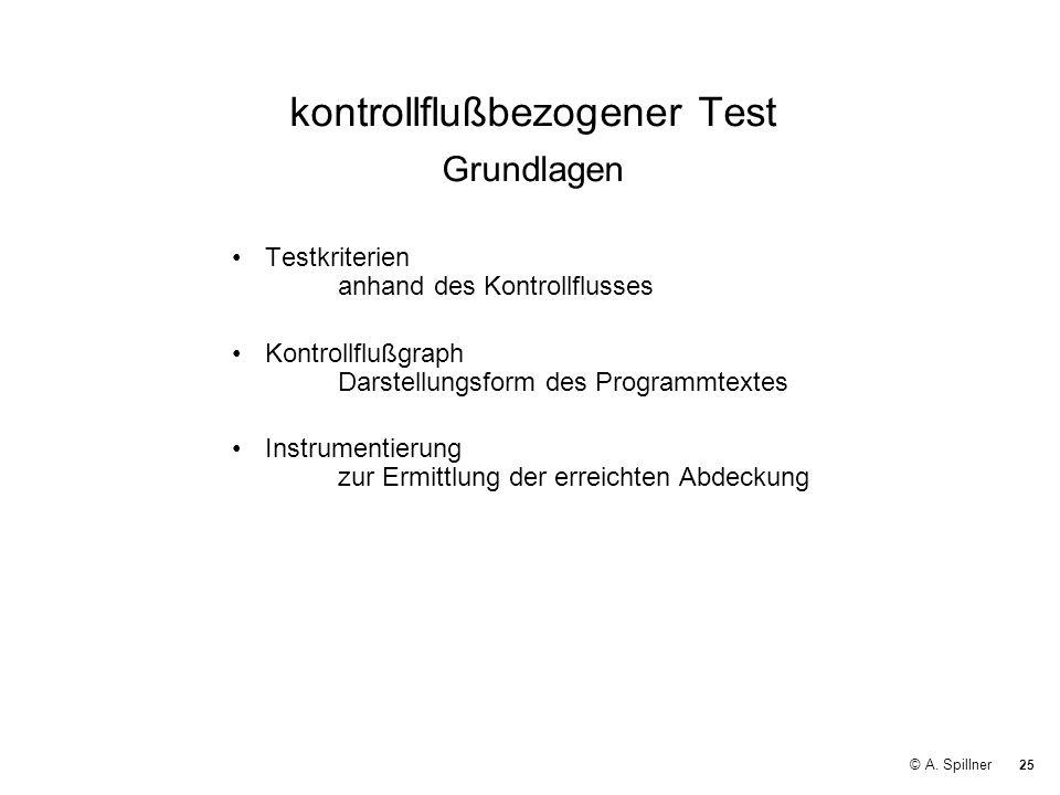 kontrollflußbezogener Test Grundlagen