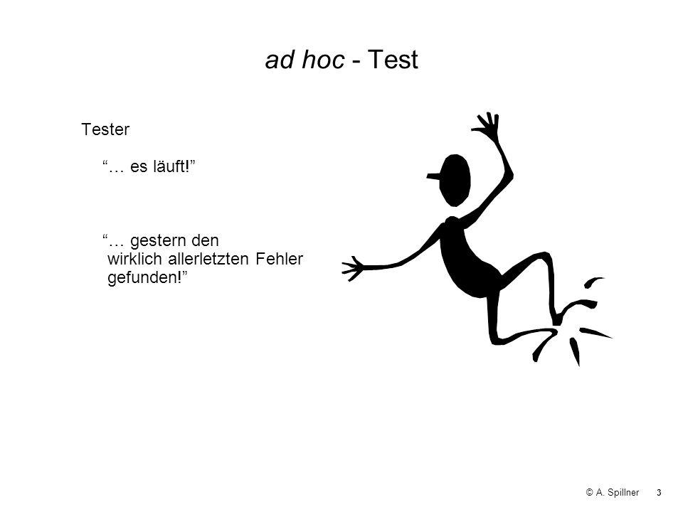 ad hoc - Test Tester … es läuft! … gestern den wirklich allerletzten Fehler gefunden!