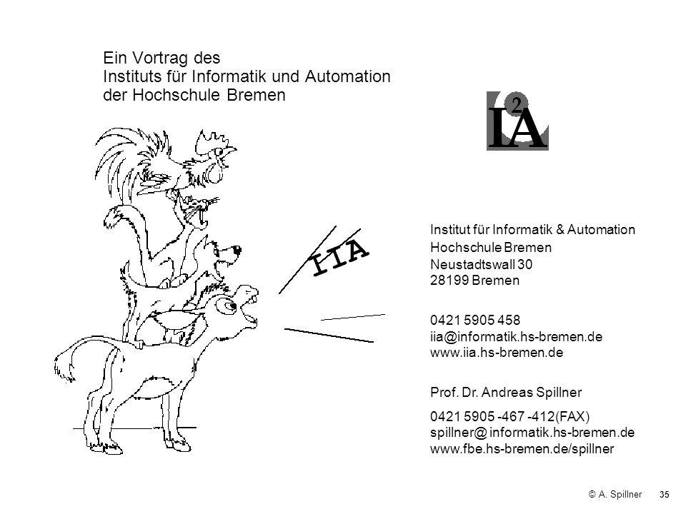 Ein Vortrag des Instituts für Informatik und Automation der Hochschule Bremen