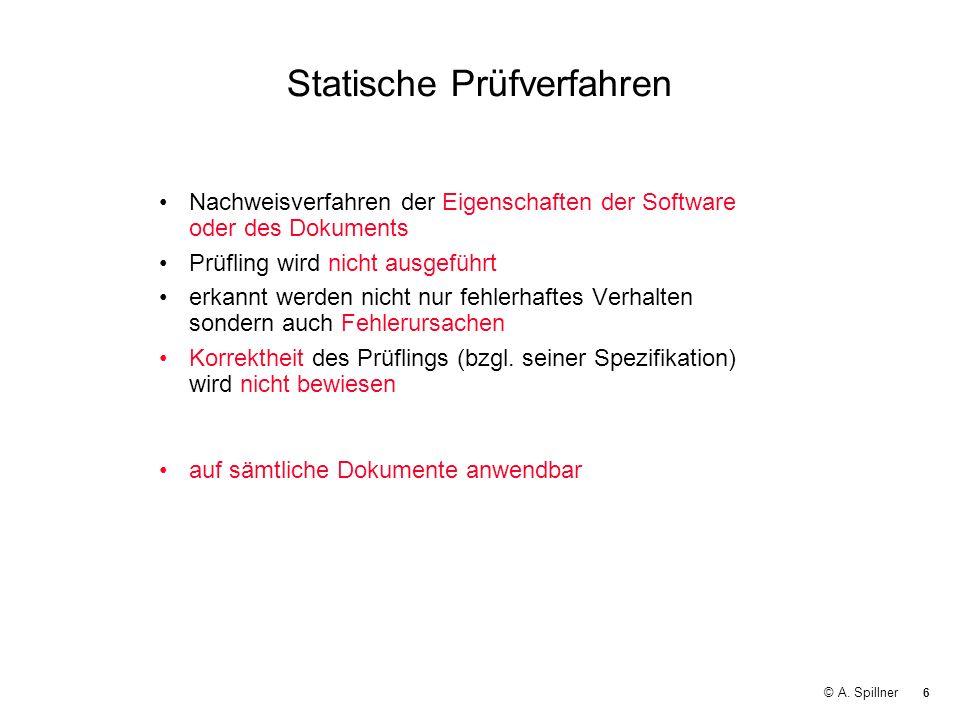 Statische Prüfverfahren