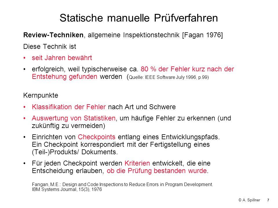 Statische manuelle Prüfverfahren